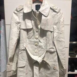 Nanette Lepore Jackets & Coats - White Trench Coat